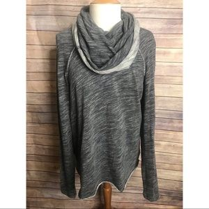 Free People Beach Gray Cowl Neck Pullover Sweater